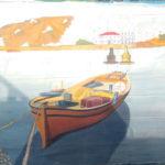 Griekse-boot-met-stad-2,5x4mtr